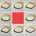 Flower/Panda/Anchor Corridor Flushmount Acrylic Cartoon LED Round Flush Ceiling Light Fixture in Black