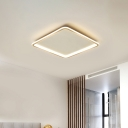 Extra Thin Square Aluminum Flush Light Simplicity Gold Surface Mounted LED Ceiling Lamp in Warm/White Light, 16