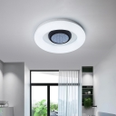 Loop Shaped Bedroom Flush Light Acrylic LED Simplicity Ceiling Mounted Lamp in Black/Silver/Grey