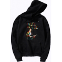Novelty Mens Hoodie Figure Guitar Microphone Pattern There's a Piece of You in How I Dress Pattern Drawstring Loose Fit Long Sleeve Hoodie