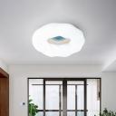 Creative Kids LED Flush Mount Light White/Blue/Coffee Cloud Shaped Ceiling Lighting with Acrylic Shade