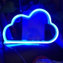 Kids Cloud Mini Night Light Plastic Bedroom LED Wall Night Lamp in White, Warm/Blue Light