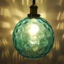 Sphere Blue Water Glass Pendant Lighting Simple 8