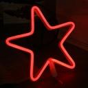 Pentacle Plastic USB Night Lamp Cartoon White LED Wall Night Lighting in Red/Blue/Pink Light