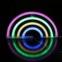 Kids Rainbow Wall Night Lamp Plastic Bedside USB Powered LED Wall Lighting in White
