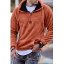 Cool Mens Hoodie Kangaroo Pocket Zipper Detail Drawstring Slim Fitted Long Sleeve Plush Hoodie