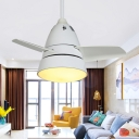 3 Blades Cone Shaped Hanging Fan Lamp Metal 28