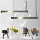 Bar Shaped Dining Room Suspension Lamp Nordic Concrete 1 Bulb Grey Ceiling Pendant Light
