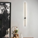 Simplicity Linear Flush Wall Sconce Metal Corridor LED Wall Mounted Lamp in Black, 23.5
