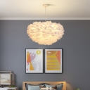 Feather Hemisphere Suspension Light Nordic 19.5