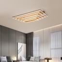 3/5 Tiers Semi Flush Ceiling Light Modern Acrylic Black/Gold LED Circle Flushmount Lighting for Bedroom
