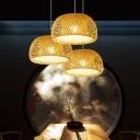 Doublewalled Suspension Light Asian Bamboo 12