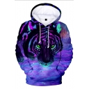 Fabulous Tiger Pool Printed Long Sleeves Pullover Hoodie with Pocket