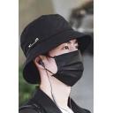 Streetwear Cool Popular Pin Embellished Bucket Hat in Black