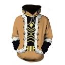 Fancy Men's 3D Hoodie Coat Pattern Front Pocket Long Sleeves Regular Fitted Drawstring Hooded Sweatshirt