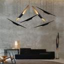 Angled-Cut Tube Kitchen Bar Hanging Light Aluminum 2-Light Designer Ceiling Pendant Lamp in Black