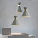 Grey Hourglass Suspension Light Nordic Cement Single 8.5