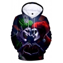 New Arrival Hot Fashion Comic Character Joker 3D Printed Long Sleeve Loose Fit Unisex Pullover Hoodie