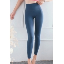 Basic Womens Leggings Solid Color Peach Butt Tummy-Control Nude Feeling High Waist Ankle Length Skinny Fit Yoga Leggings