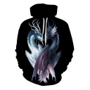 Creative Fashion Double Dragon 3D Printed Unisex Loose Relaxed Hoodie