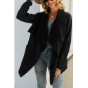 Stylish Coat Solid Color Patchwork Fur Collar Pocket Detail Long Sleeves Regular Fitted Coat for Women