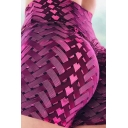 Cozy Women's Short Geometric Printed Elasticity High-Waist Slim Fitted Yoga Shorts