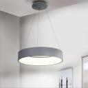Bracelet Shaped Acrylic Drop Lamp Nordic Grey/White LED Chandelier Pendant for Living Room, 18