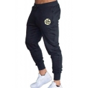 Character Printed Drawstring-Waist Elastic Cuff Cotton Sport Joggers Sweatpants