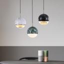 Mini Globe Marble Pendant Light Simple 1 Bulb 4