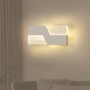 Z-Shaped Wall Lamp Fixture Modern Acrylic Black/White LED Wall Mounted Light in Warm/White Light for Living Room