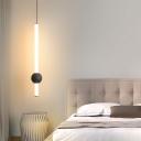 Tubular LED Pendulum Light Minimalistic Acrylic Black/White Ceiling Pendant in Warm/White/3 Color Light
