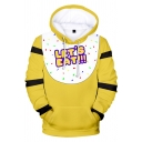 Novelty Womens Hoodie Cartoon Five Nights at Freddy's 3D Triangle Bowknot Arrow Letter Pattern Drawstring Regular Fitted Long Sleeve Hoodie