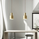 5/12w Grenade Shaped Ceiling Pendant Simplicity Metal 1 Head Dining Table Suspension Light in Gold
