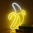 White Peeled Banana Night Light Cartoon Acrylic LED Wall Lamp with USB Power Cord
