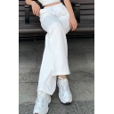 Fancy Women's Pants Plain Drawstring Elastic Waist Long Tapered Jogger Pants