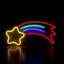 Plastic Shooting Star Night Lighting Cartoon White LED Wall Night Lamp with USB Plug