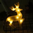 Christmas Deer Bedroom Wall Night Lamp Plastic Nordic LED Night Lighting in White