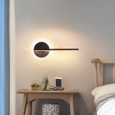 Acrylic Stick Wall Light Fixture Simple Style Black/White LED Sconce Lighting in Warm/White/3 Color Light