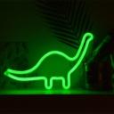 Dinosaur Boys Room Wall Night Lamp Plastic Cartoon Battery LED Night Light in White