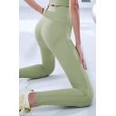 Yoga Girls Solid Color Leggings High Rise Ankle Length Quick Dry Skinny Leggings