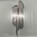 Aluminum Tassel Chain Wall Sconce Modern 2-Light Black Wall Mount Lamp for Living Room