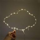 Iron Cloud/Umbrella/Star LED Night Light Trendy Kids Style White Battery Powered Wall Hang Lamp
