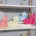 Red/Pink/Blue Swan Mini Night Light Cartoon Plastic Battery Powered LED Wall Lamp for Girls Room
