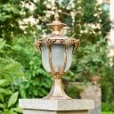 Prismatic Glass Lantern Pillar Lamp Antique 8