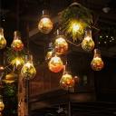 Clear Glass Bulb Shaped Hanging Light Loft Style 1-Head Restaurant Plant Ceiling Pendant, Small/Medium/Large