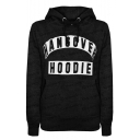HANGOVER Letter Graphic Printed Long Sleeve Casual Hoodie