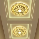 Blooming Crystal Flush Light Modern Clear LED Flush Mount Ceiling Lamp in Warm/Pink/Multi-Color Light, 3/5w