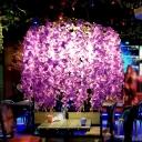 Wisteria Wine Bar Chandelier Lamp Farmhouse Iron 3-Light Purple/Blue/Green Hanging Light Fixture