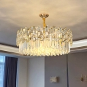 K9 Crystal Rectangle Round/Linear Chandelier Post-Modern Small/Large LED Suspended Lighting Fixture