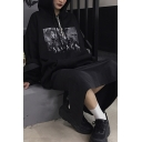 Retro Womens Hoodie Cartoon Anime Figure Pattern Long Sleeves Relaxed Fit Relaxed Fit Hooded Sweatshirt